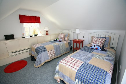 East Orleans Cape Cod vacation rental - 2nd floor -Whale- room. Two twins. Ocean peeks!