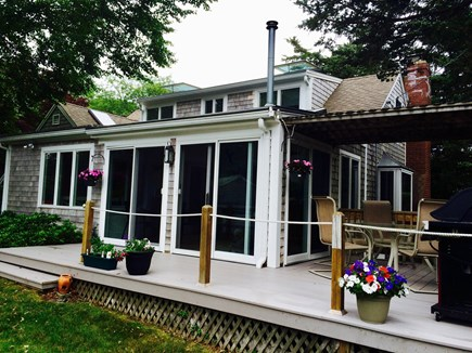 East Orleans Cape Cod vacation rental - Deck. Outdoor dining and weber gas grill