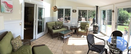 East Orleans Cape Cod vacation rental - 4 season porch. Plenty of light and fresh air!