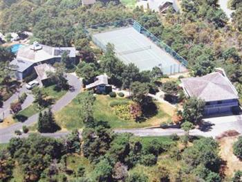 Truro Cape Cod vacation rental - Aeriel view with main house on left