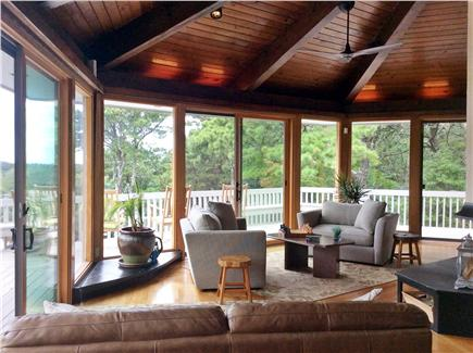 Truro Cape Cod vacation rental - Spectacular views from every floor-to-ceiling sliders.