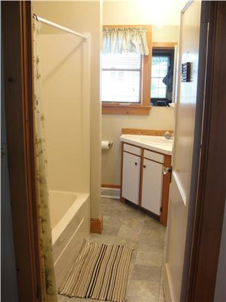 Falmouth Heights Beach Cape Cod vacation rental - 2nd Bathroom (off hallway) with tub/shower
