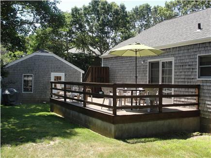 Falmouth Heights Beach Cape Cod vacation rental - Huge Rear Deck w/outdoor furniture