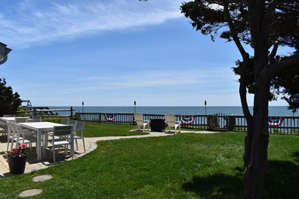 Dennisport Cape Cod vacation rental - Front yard with path to the private beach. Amazing ocean views!