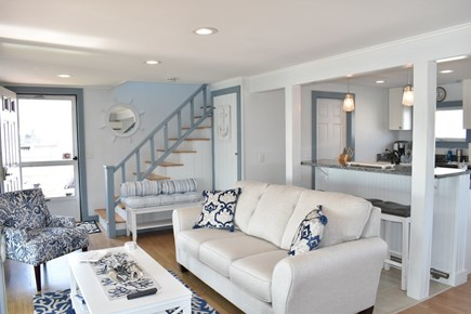 Dennisport Cape Cod vacation rental - Living Area with sliding doors to sun porch