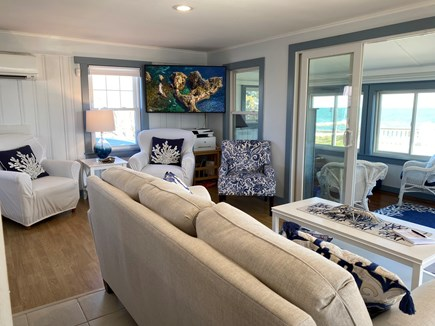 Dennisport Cape Cod vacation rental - Living area with ocean view.