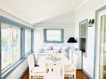 Dennisport Cape Cod vacation rental - Sunporch is a Great place to play games!