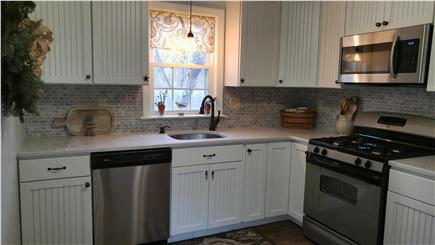 Harwichport Cape Cod vacation rental - Brand new Nantucket style kitchen with stainless appliances.