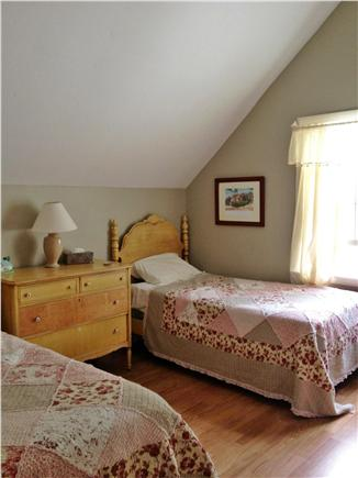 Harwichport Cape Cod vacation rental - Second floor bedroom3 twins and  cathedral ceilings.