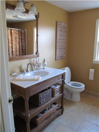 Harwichport Cape Cod vacation rental - Newly renovated second floor bath with four foot shower stall.