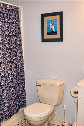 Wellfleet Cape Cod vacation rental - Second full bathroom - large shower and sink and mirror
