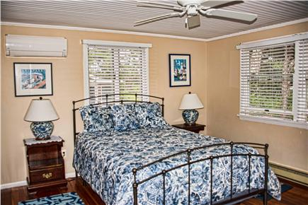 Wellfleet Cape Cod vacation rental - Bedroom 2 with ceiling fan and  w/ Central AC