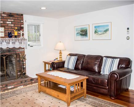 Wellfleet Cape Cod vacation rental - Comfortable couch in TV Room