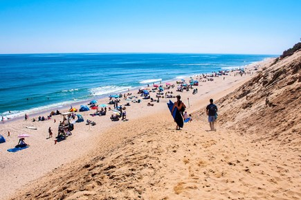 Wellfleet Cape Cod vacation rental - Walking down the dune on a perfect beach day!