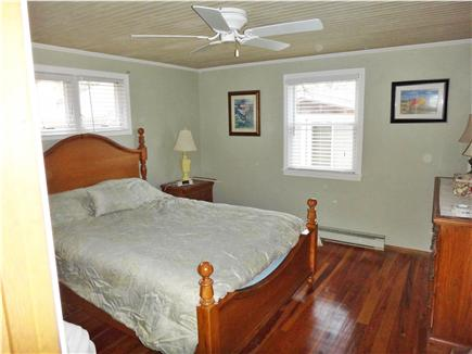 Wellfleet Cape Cod vacation rental - Bedroom 1 with ceiling fan and  w/ Central AC