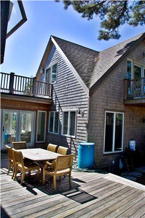Wellfleet Cape Cod vacation rental - Back of House with Ground Floor Deck and Upper deck from Bedroom