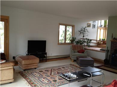 Wellfleet Cape Cod vacation rental - Living Room and Stairs to Second Floor