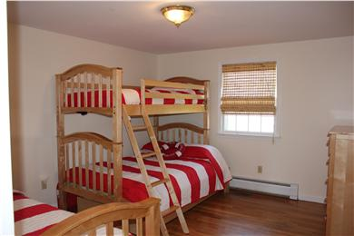 Harwich Cape Cod vacation rental - Bedroom with double bunk bed and twin