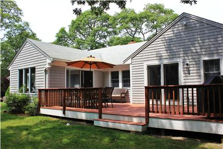 Harwich Cape Cod vacation rental - Large deck with enclosed outdoor shower