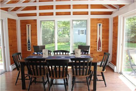 Harwich Cape Cod vacation rental - Sunny four season room seats 8