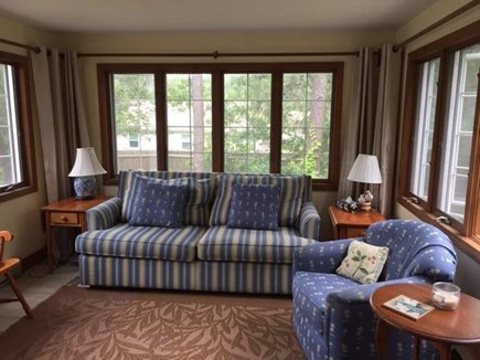West Harwich Cape Cod vacation rental - Breezy sunroom for watching tv or reading a good novel.