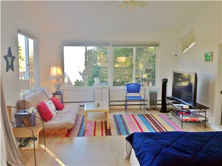 East Orleans Cape Cod vacation rental - Upper Level / 4th bedroom with futon & flat screen TV, A/C, Deck