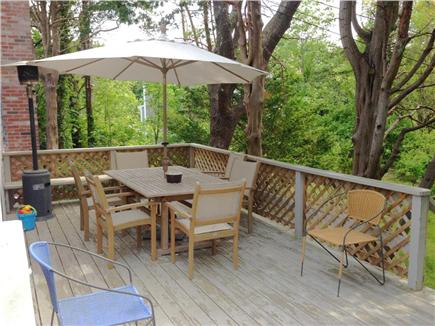 East Orleans Cape Cod vacation rental - Main Deck off dining / kitchen area with gas grill