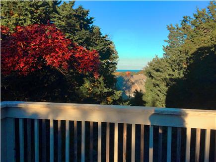 East Orleans Cape Cod vacation rental - Upper Floor Deck View Toward Nauset Beach