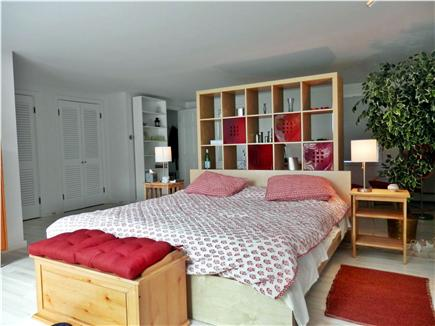 East Orleans Cape Cod vacation rental - Main Floor Master Bedroom with Deck, Bathroom and A/C