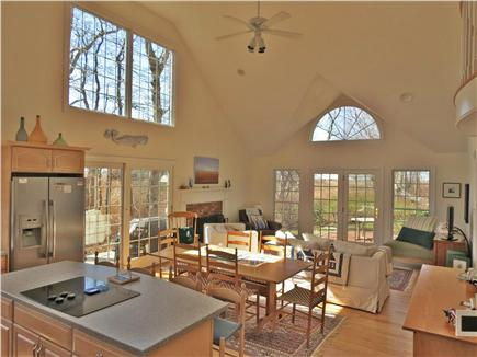 Orleans Cape Cod vacation rental - Vaulted modern living room is filled with natural light