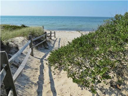 Orleans Cape Cod vacation rental - Here's the walkway to the private association beach, 10 min walk