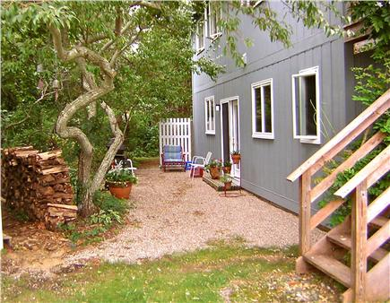 Wellfleet Cape Cod vacation rental - your BBQ area and side entrance