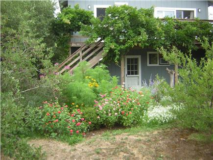 Wellfleet Cape Cod vacation rental - Flowers at your first floor front entrance