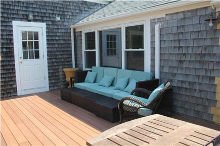 Eastham Cape Cod vacation rental - Large Mahogany Deck to view water