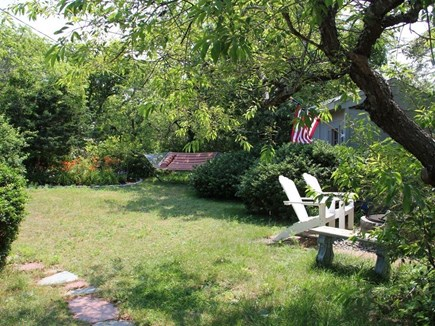 Eastham Cape Cod vacation rental - Back of house with hammock