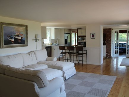 Eastham Cape Cod vacation rental - One of three living rooms, this one open to the kitchen