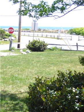 Falmouth Heights Cape Cod vacation rental - View of front yard across to Bristol Beach