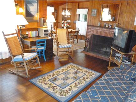 Falmouth Heights Cape Cod vacation rental - Relax in the central living room (wifi and cable available)
