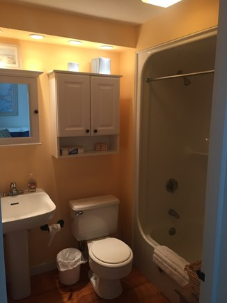New Seabury New Seabury vacation rental - First floor bathroom with shower/tub combination.