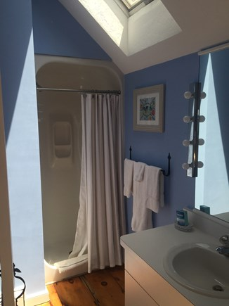 New Seabury New Seabury vacation rental - 2nd floor bathroom with shower and skylight.
