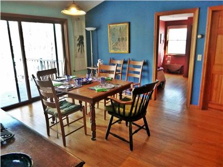 Wellfleet Cape Cod vacation rental - Dining area with sliders to back deck