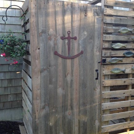 Eastham Cape Cod vacation rental - Outdoor Shower with Propane Heated Water