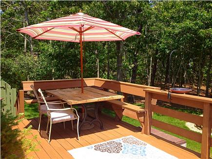 Eastham Cape Cod vacation rental - Private Deck with Table, Chairs and Umbrella