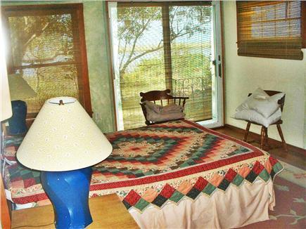 Wellfleet Cape Cod vacation rental - Garden Queen Beroom and View of Patio