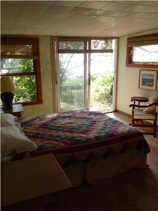 Wellfleet Cape Cod vacation rental - First of two queen bedrooms; private patio and bay view