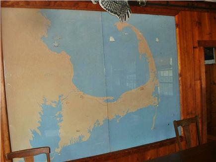 Wellfleet Cape Cod vacation rental - Historic Map of Cape Cod Lighthouses -in Great Room