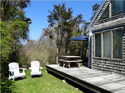 East Orleans Cape Cod vacation rental - Large, sunny deck in private back yard