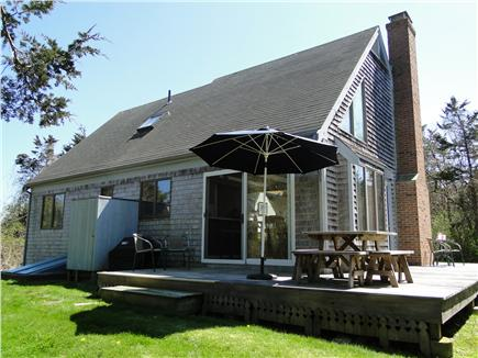 East Orleans Cape Cod vacation rental - Outdoor shower and seating area