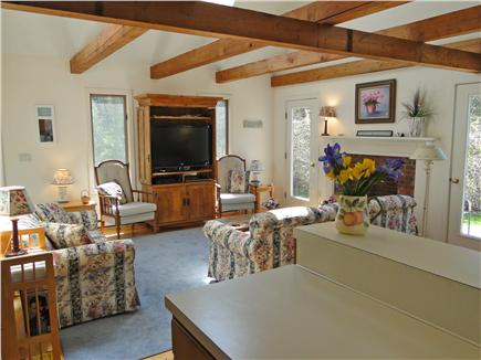 East Orleans Cape Cod vacation rental - Living room includes two couches and flat screen TV