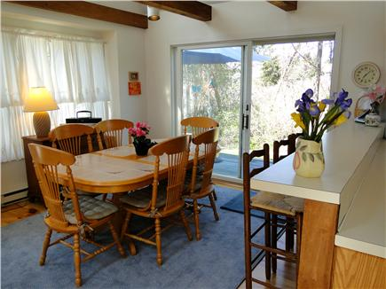 East Orleans Cape Cod vacation rental - Dining area with slider to back deck